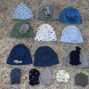 Baby boy hats & mittens